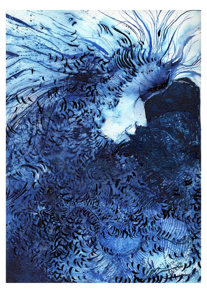 BLUE – INK TECHNIQUE